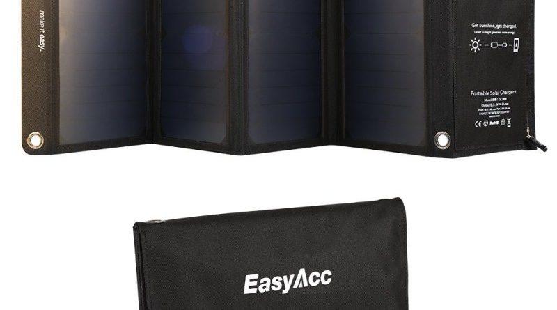 EasyAcc 28W caricatore solare 4-Port USB: recensione