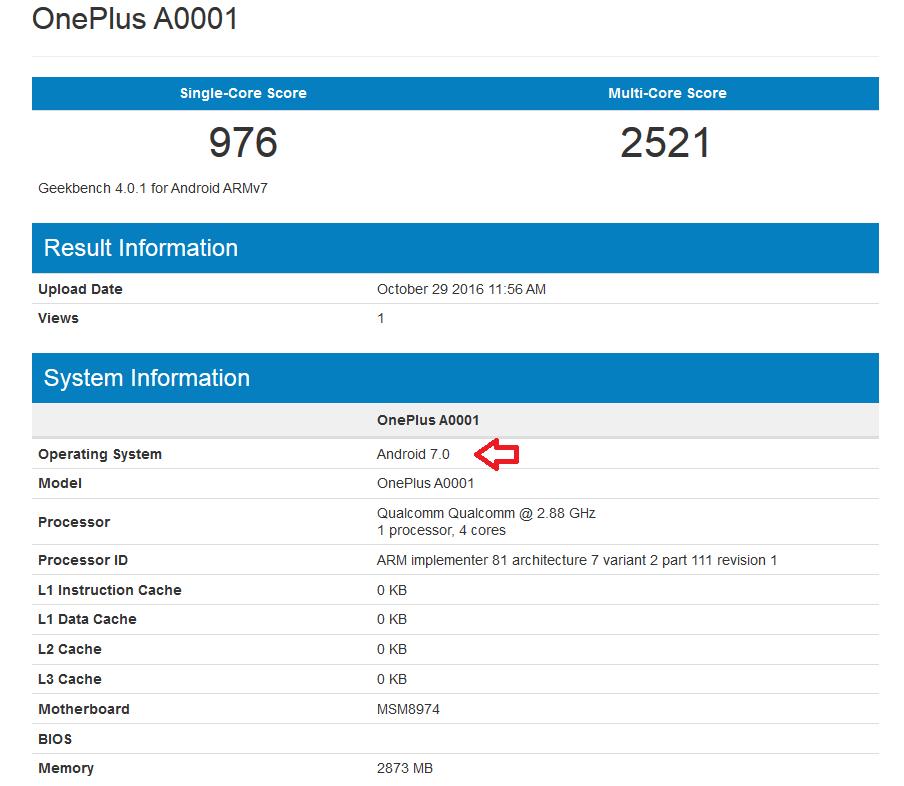 TechnoBlitz.it Versione Android 7.0 non ufficiale in test su OnePlus One  TechnoBlitz.it Versione Android 7.0 non ufficiale in test su OnePlus One