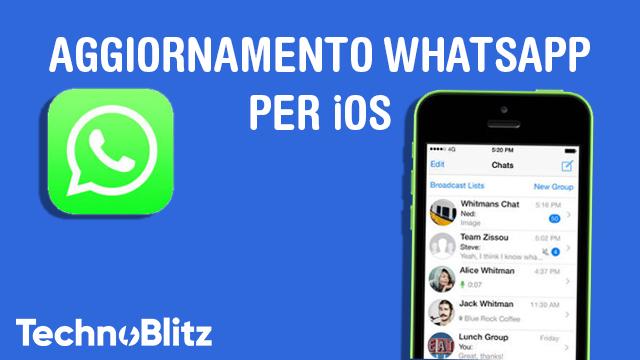 TechnoBlitz.it App di WhatsApp si aggiorna su iOS risolvendo alcuni problemi