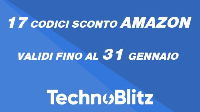 TechnoBlitz.it 17 Codici Sconto Amazon! (Validi fino a fine mese)