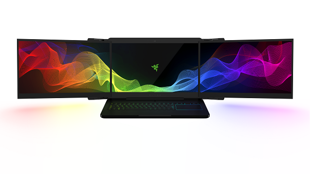 TechnoBlitz.it Razer Project Valerie, il portatile con triplo monitor 4K