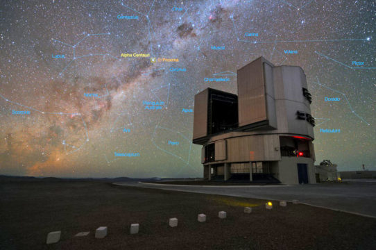 Il telescopio dell'ESO