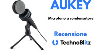 TechnoBlitz.it Recensione del microfono a condensatore AUKEY, con supporto per scrivania