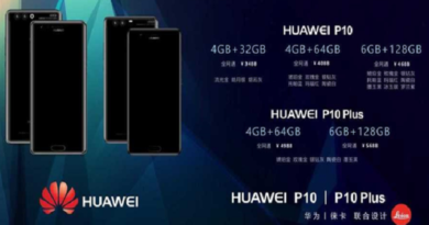 TechnoBlitz.it Huawei P10 e P10 Plus, un documento rivela le specifiche