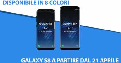 TechnoBlitz.it Galaxy S8 - sarà disponibile in 8 colori dal 21 Aprile