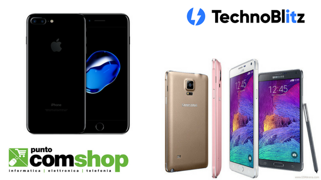 Puntocomshop.it: nuove interessanti offerte per iPhone 7 Jet Black e Note 4