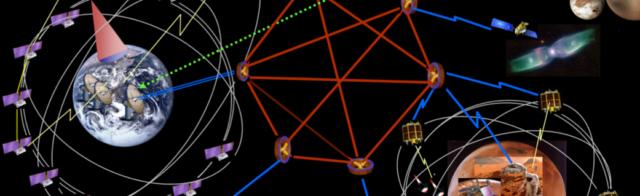 Una immagine simbolica dei collegamenti Delay/Disruption Tolerant Networking (DTN).
