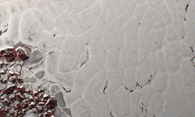 Immagine dei processi tettonici su Plutone