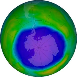 Il buco dell'ozono in Antartide si sta riducendo