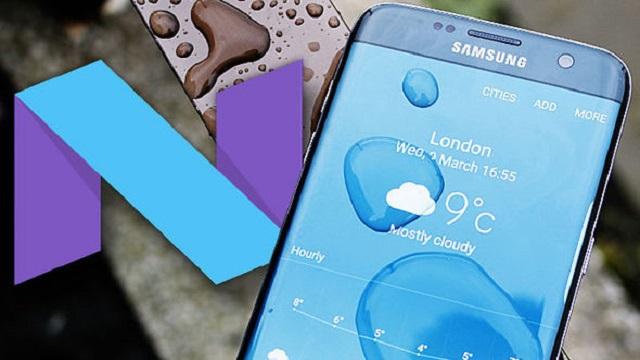 Android Nougat su Samsung Galaxy S7