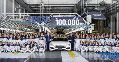 Maserati produce la vettura numero 100 mila