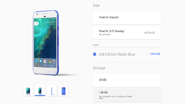 Google Store Really Blue