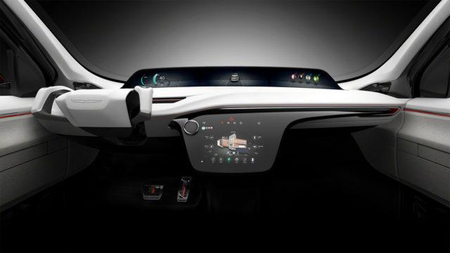 Gli interni della Chrysler Portal