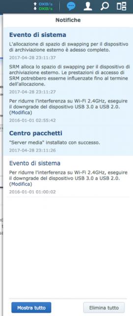 Centro notifiche SRM 1.1