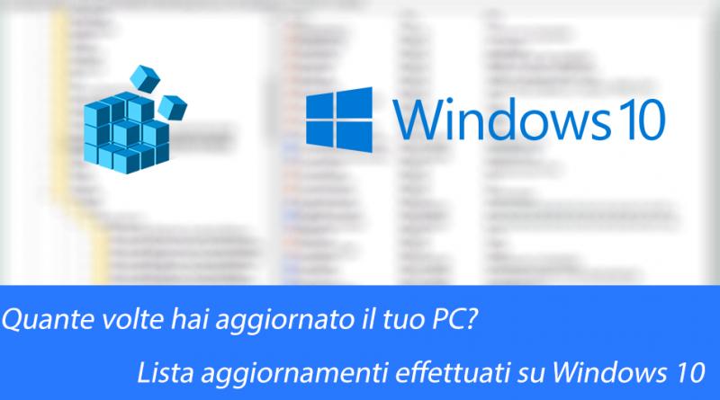Windows 10 - Lista aggiornamenti installati