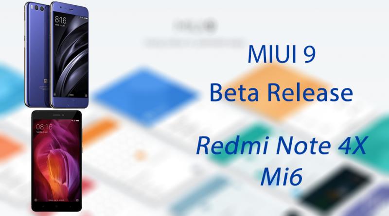 MIUI 9 - Redmi 4X Mi 6