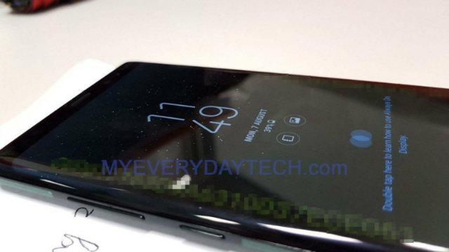 Le prime foto in real life mostrano il Galaxy Note 8 in azione!