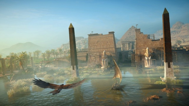 Screenshot Assassin's Creed Origins dall'alto