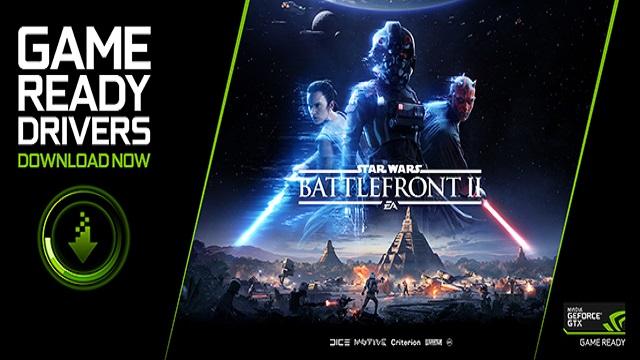 Driver NVIDIA ora ottimizzati per Star Wars Battlefront II e Destiny 2